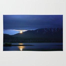 Strawberry Moon Over Sparks Lake - Oregon Landscape Rug