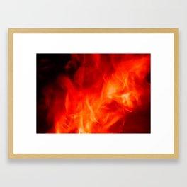 Hot fire Framed Art Print