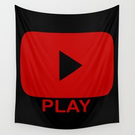 Play Button Wall Tapestry