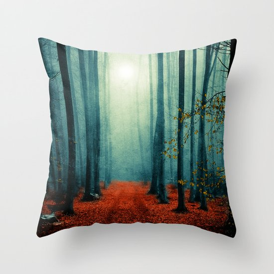 Landscape (colour option) Throw Pillow