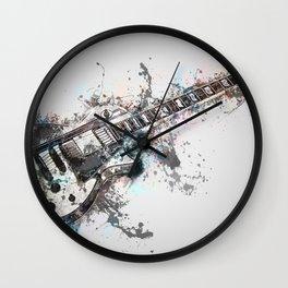 Art Guitar Wall Clock
