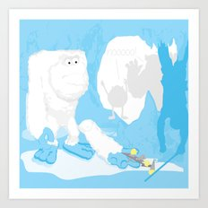 Snow cone anyone? Art Print