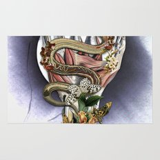 Totality anatomical collage art by bedelgeuse Rug