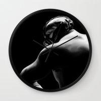 bane Wall Clocks featuring Bane by Silverback Design