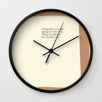 literary Wall Clocks featuring Literary Quote Poster — Light in August by William Faulkner by Evan Beltran