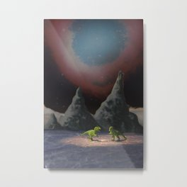 The Dinosaurs & The Thin Ice Metal Print