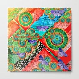 Abstract colorful mandala experiment Metal Print
