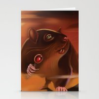rat Stationery Cards featuring Rat by Brandon Heffron