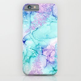 Mermaid Wishes: Original Abstract Alcohol Ink Painting iPhone Case