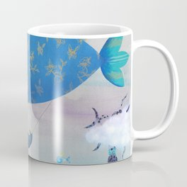 Flying Fish in Sea of Clouds with Sleeping Child Coffee Mug