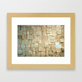 Pages on Pages Framed Art Print