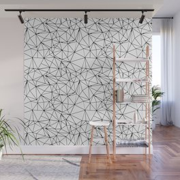 Mosaic Triangles Repeat Seamless Pattern Black and White Wall Mural