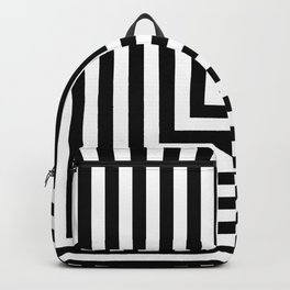 Black and White L Stripes // www.pencilmeinstationery.com Backpack