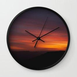 sunset in negev Wall Clock