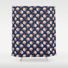 Blue Bondage Shower Curtain