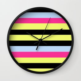 Bertie Bassett Stripes Pattern Wall Clock