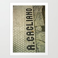 look down  Art Print