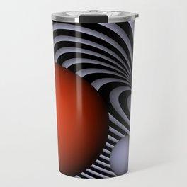 red subway feeling -2- Travel Mug