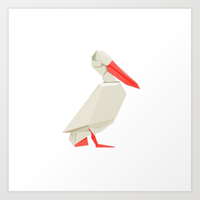Origami Pelican Art Print By Staskhabarov Society6
