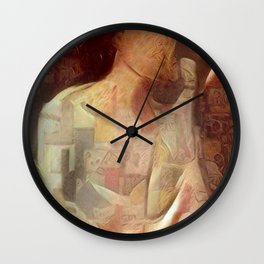 Woman in negligee Wall Clock
