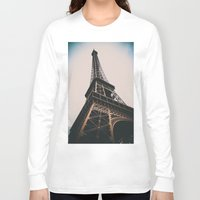 eiffel tower Long Sleeve T-shirts featuring Eiffel Tower by Christine Workman