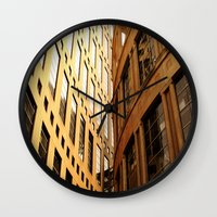 library Wall Clocks featuring Library  by Ethna Gillespie