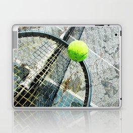 Modern tennis ball and racket 7 Laptop & iPad Skin