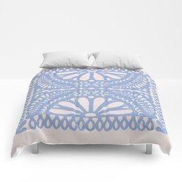 Fiesta de Flores Serenity Blue Comforters