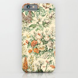 Wildflowers and Roses // Fleurs III by Adolphe Millot 19th Century Science Textbook Artwork iPhone Case