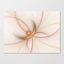 Nobly In Gold And Copper, Fractal Art Canvas Print