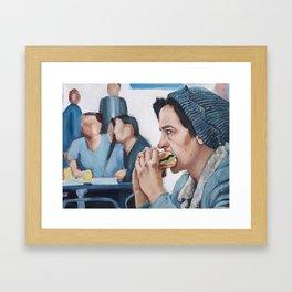 Jughead Jones Eats a Burger - Riverdale Framed Art Print