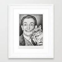 dali Framed Art Prints featuring Dali by Alice Macarova