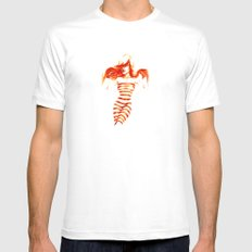 Fiery Water Faery White Mens Fitted Tee MEDIUM