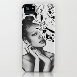 Abstraction - version 5. BW iPhone Case