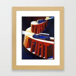 Vintage poster - Car Advertiement Framed Art Print