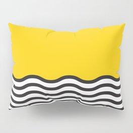 Waves of Yellow Pillow Sham