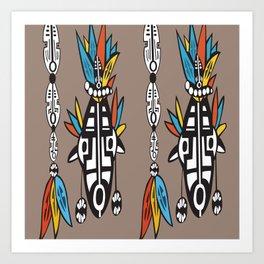 9d5146950 African Tribal Mask No. 7 Art Print