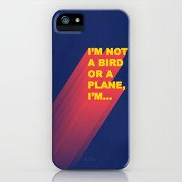 Super Man iPhone Case