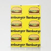 hamburger Stationery Cards featuring Hamburger by Kris Sung