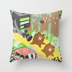 Run Run Run Throw Pillow