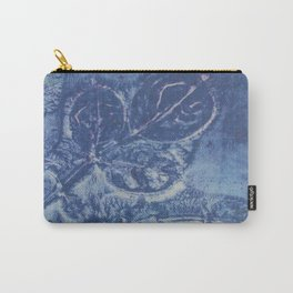 Blue Leaf Print Carry-All Pouch