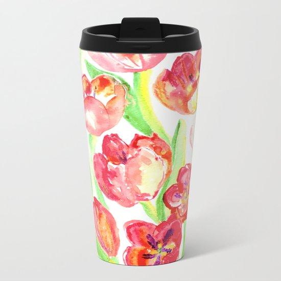 Mothers Day Tulips Metal Travel Mug