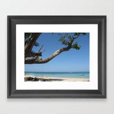 Jamaica - Glorious Sandy Beach Framed Art Print