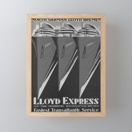 retro classic Lloy Express poster Framed Mini Art Print