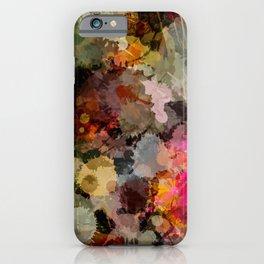 Paint Splatter Bouqet  iPhone Case