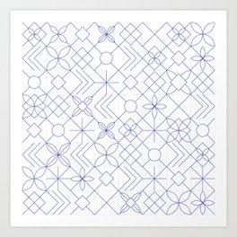Portuguese Tiles Art Print