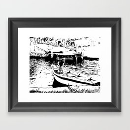 Let's sail away Framed Art Print