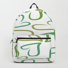 Green Ivy Hearts Backpack