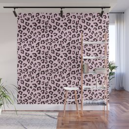 Leopard Print - Pink Chocolate Wall Mural