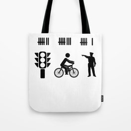 car driver racer highway police PS gift Tote Bag